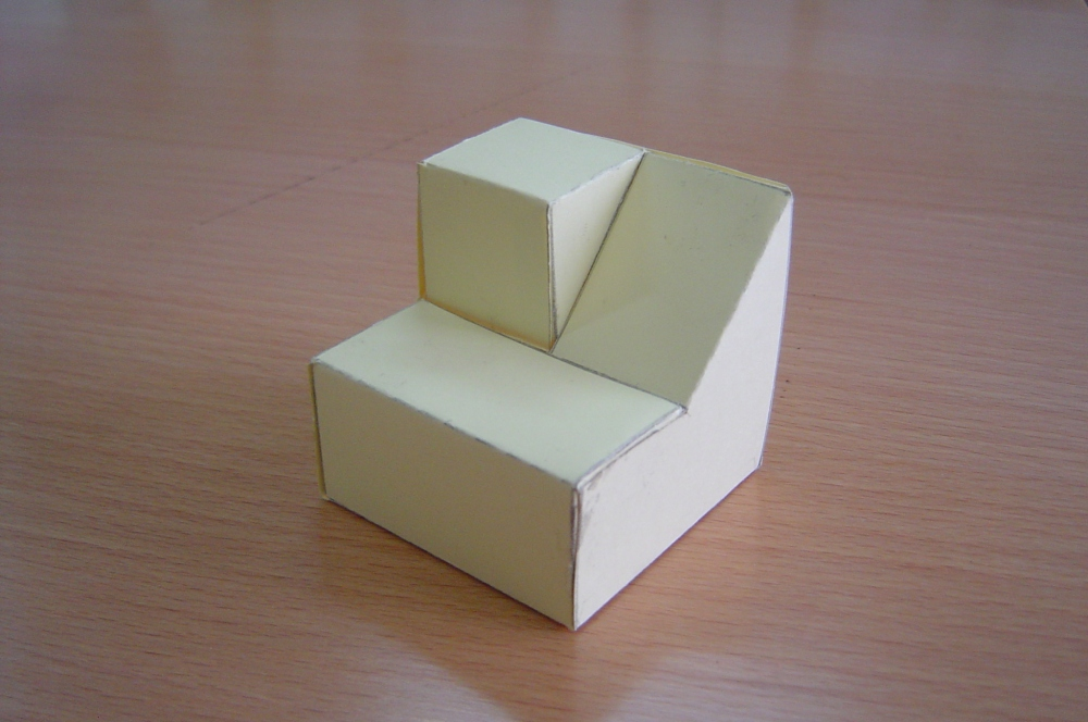 Piezas tridimensionales para trabajar alzado, planta y perfil (1/3)