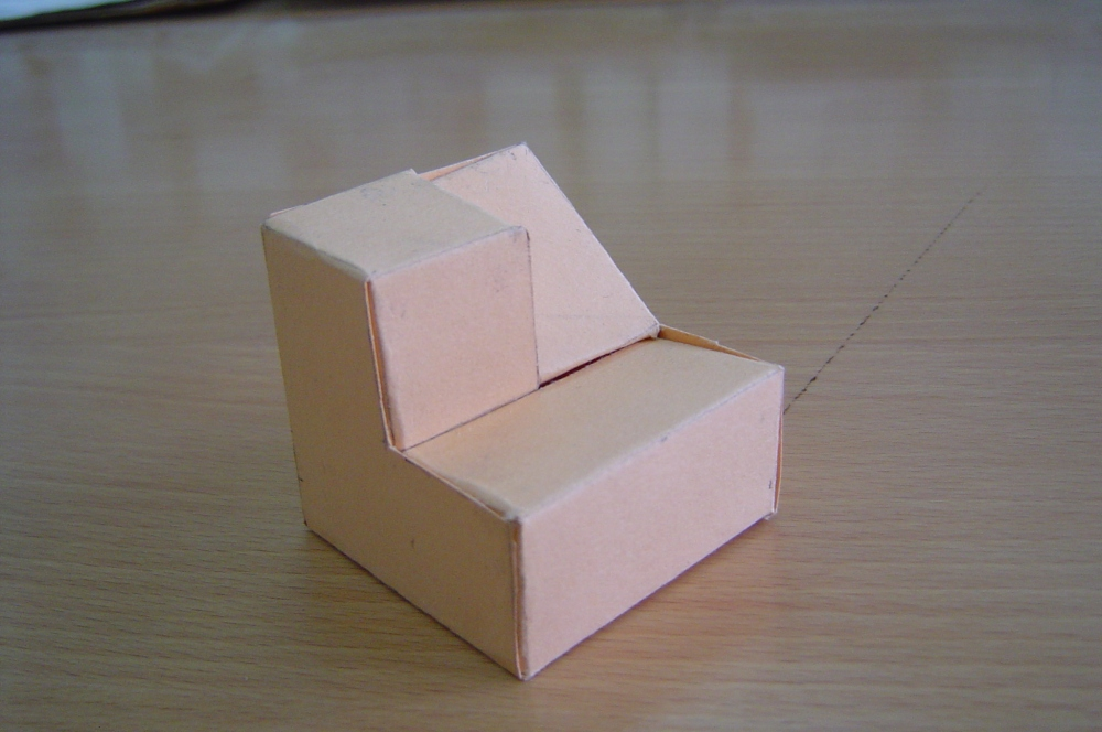 Piezas tridimensionales para trabajar alzado, planta y perfil (2/3)