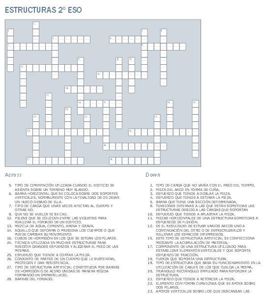 Crucigrama sobre estructuras blog de tecnolog a for Estructuras para arquitectos pdf