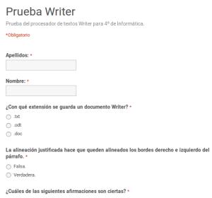 Prueba sobre Writer
